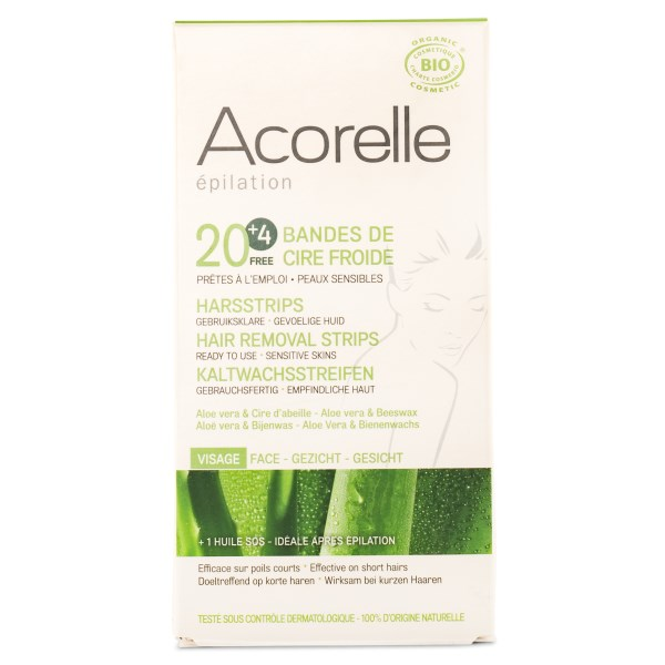 Acorelle Hair Removal Strips 20 strips Face