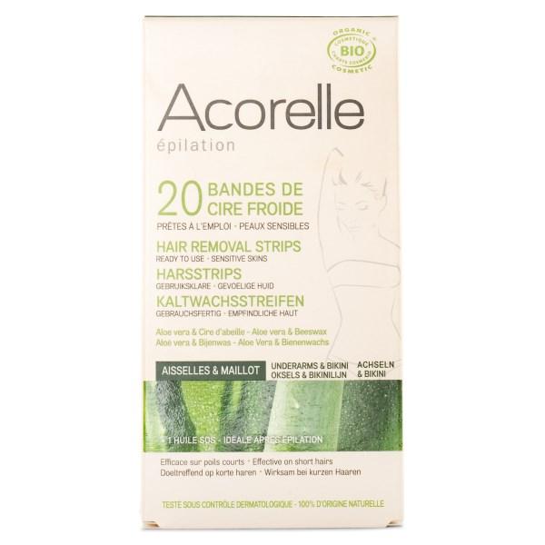 Acorelle Hair Removal Strips 20 strips Bikini & Underarms