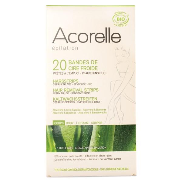 Acorelle Hair Removal Strips Body 20 strips
