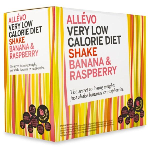 Allevo VLCD Shake  Banana & Raspberry 24 portioner