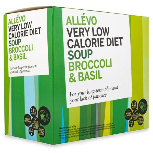 Allevo VLCD Soup Broccoli/Basilika 24 portioner