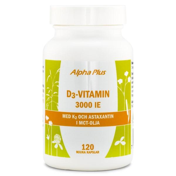 Alpha Plus D3-Vitamin 3000 IE +K2 120 kaps