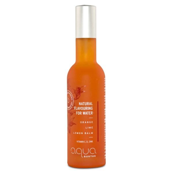 Aqua Gustus Natural Flavouring for Water 50 ml Orange, Lime, Lemon balm