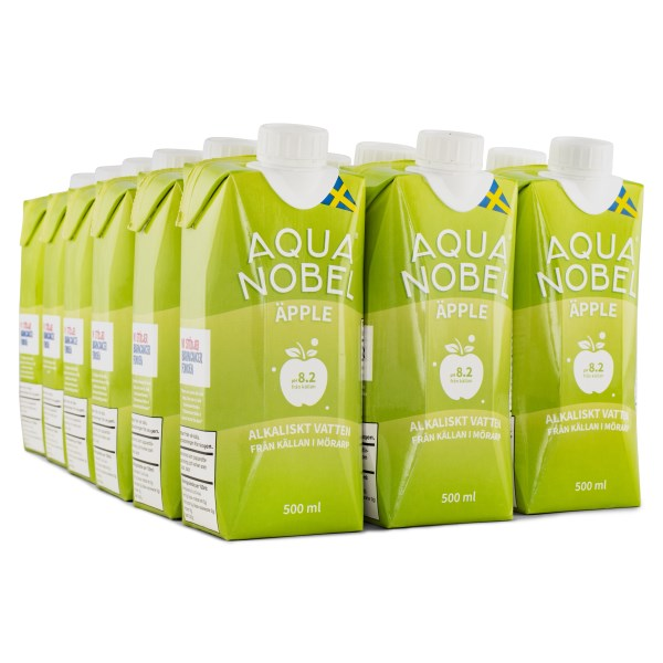 Aqua Nobel Stilla Källvatten 500 ml Äpple 12-pack