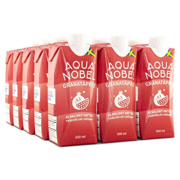 Aqua Nobel Stilla Källvatten 500 ml Granatäpple 12-pack