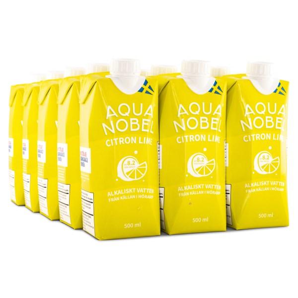 Aqua Nobel Stilla Källvatten 500 ml Citron/Lime 12-pack
