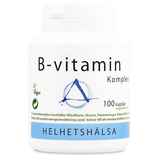 Helhetshälsa B-Vitamin Komplex 100 kaps