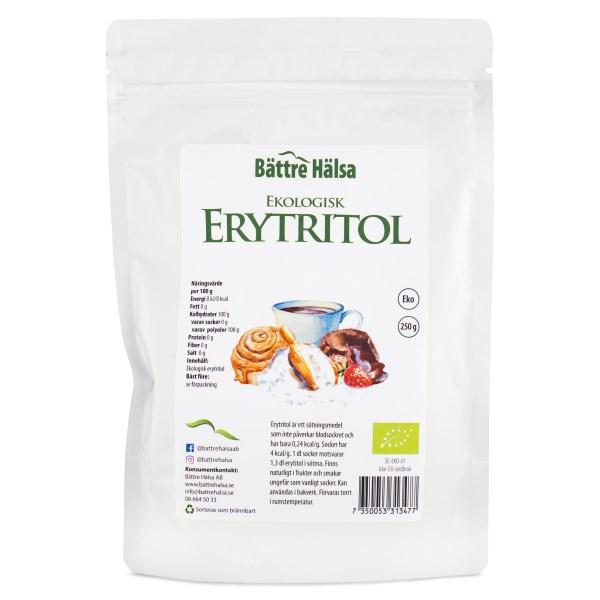 Bättre Hälsa Erytritol EKO 250 g