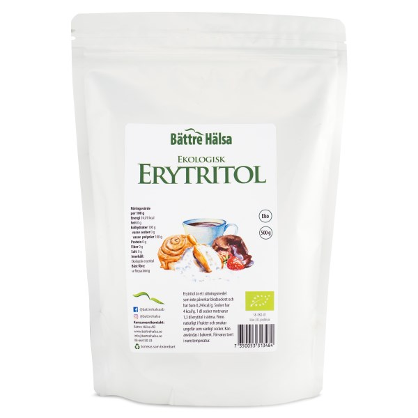 Bättre Hälsa Erytritol EKO 500 g