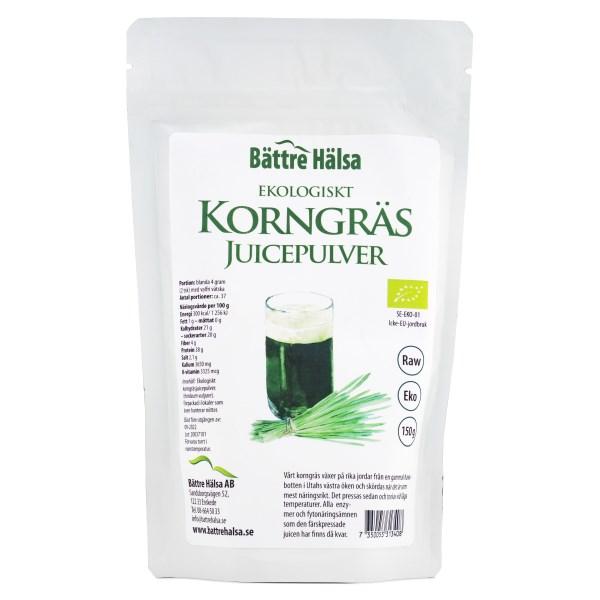 Bättre Hälsa Korngräsjuicepulver EKO 150 g