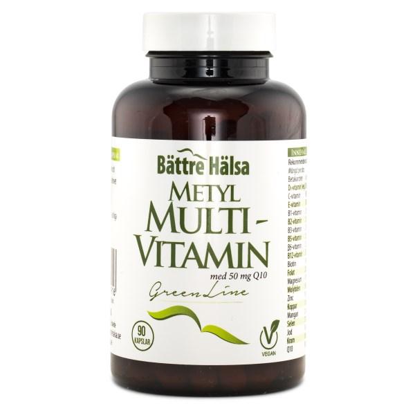 Bättre Hälsa Metyl Multivitamin Green Line 90 kaps