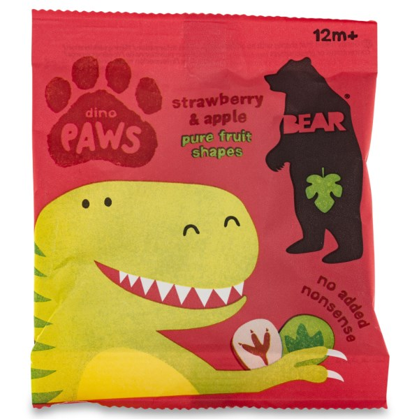 Bear Paws Dino Jordgubb & Äpple 18 pack