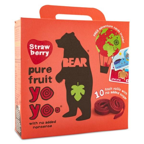 Bear Yoyos Multipack Jordgubb 5-pack