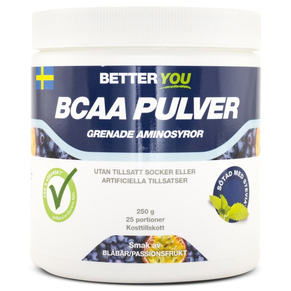 Better You BCAA Pulver Passionsfrukt/Blåbär 250 g