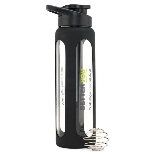 Better You Glas Shaker 700 ml Svart