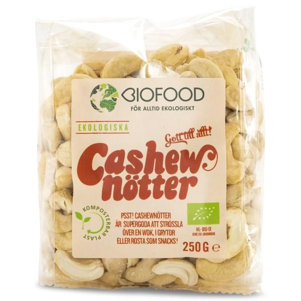 Biofood Cashewnötter EKO 250 g