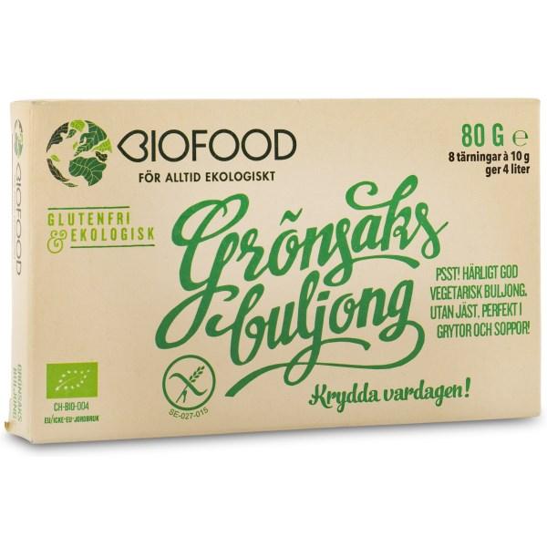 Biofood Grönsaksbuljong Tärning 8-pack