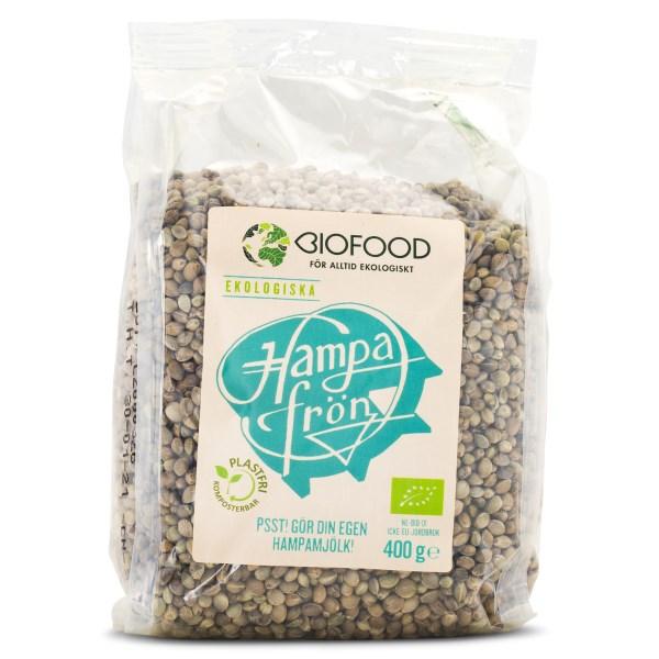 Biofood Hampafrön Oskalade 400 g
