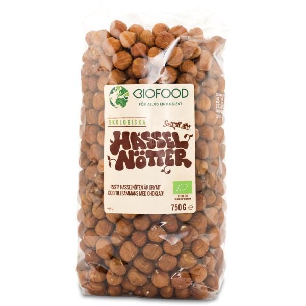 Biofood Hasselnötter EKO 750 g