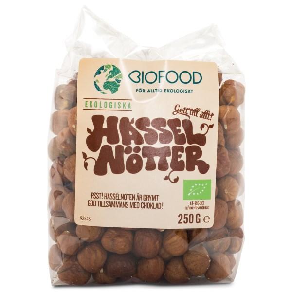 Biofood Hasselnötter EKO 250 g
