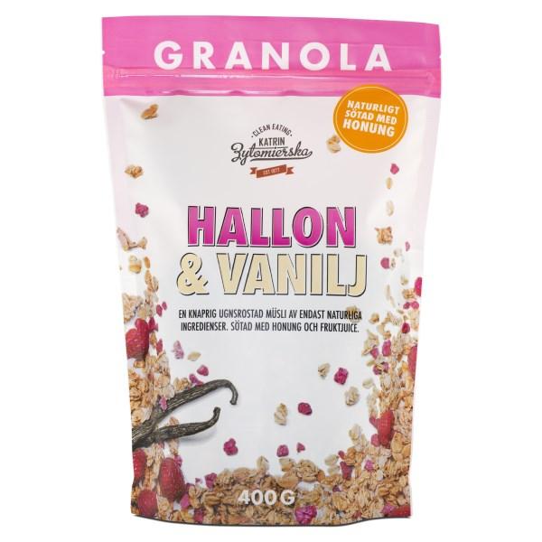 Clean Eating Granola 400 g Hallon&Vanilj