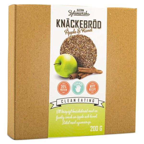 Clean Eating Knäckebröd 200 g Äppel & Kanel