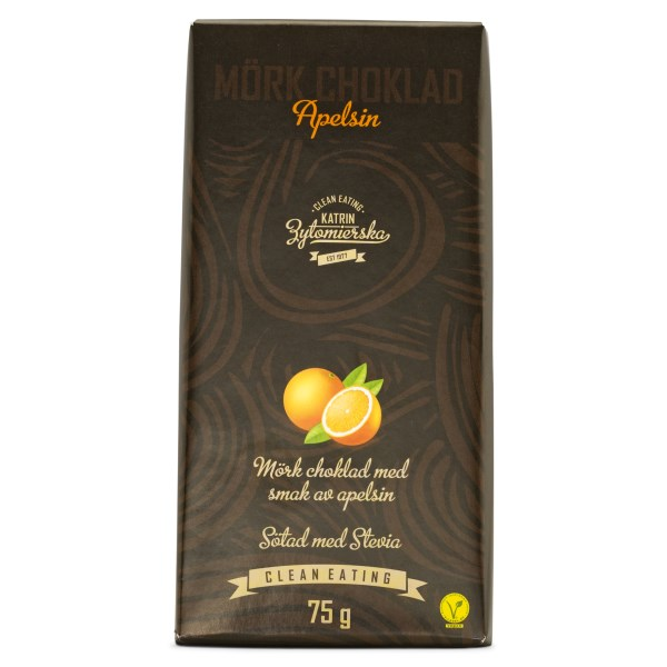 Clean Eating Mörk Choklad 75 g Apelsin