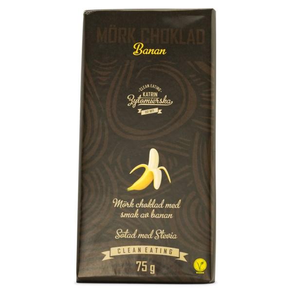 Clean Eating Mörk Choklad 75 g Banan
