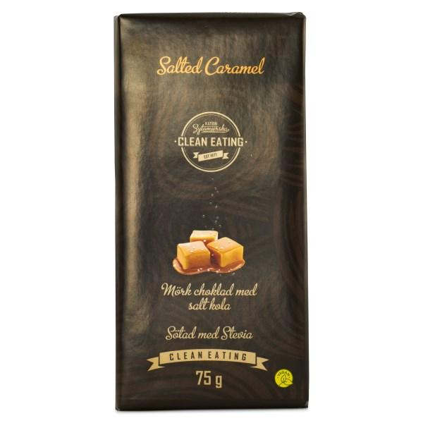 Clean Eating Mörk Choklad 75 g Saltad Karamell