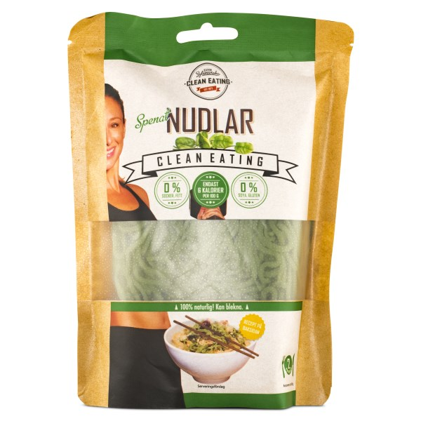 Clean Eating Nudlar 300 g Spenat