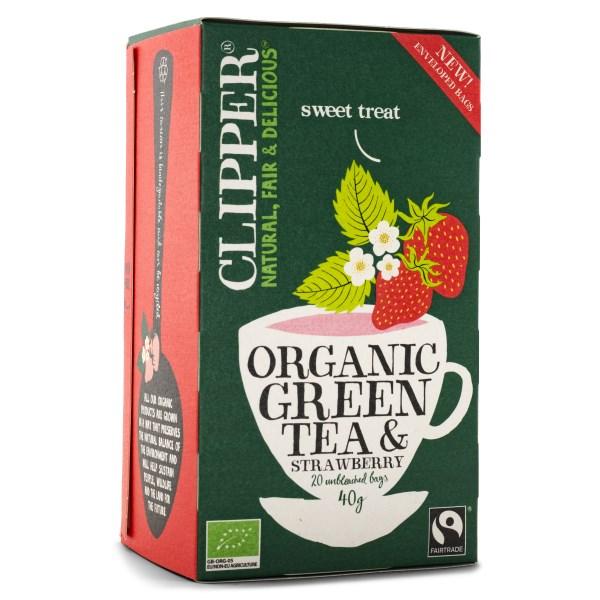Clipper Tea Green Tea & Strawberry 20 påsar