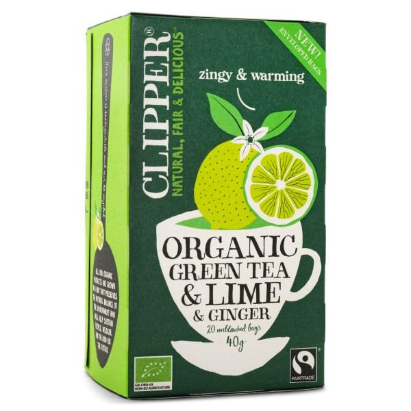 Clipper Tea Green Tea Lime & Ginger EKO 20 påsar