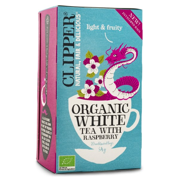 Clipper Tea White Raspberry EKO 20 påsar