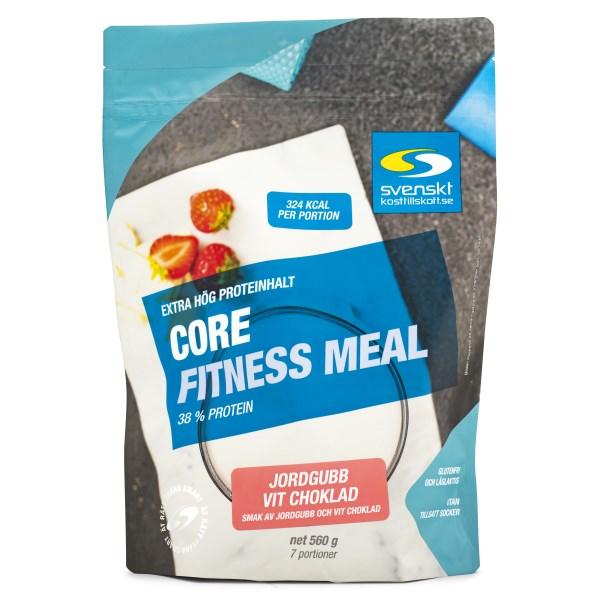 Core Fitness Meal 560 g Jordgubb vitchoklad
