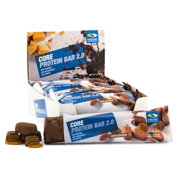 Core Protein Bar 2.0 Chokladfudge 12-pack