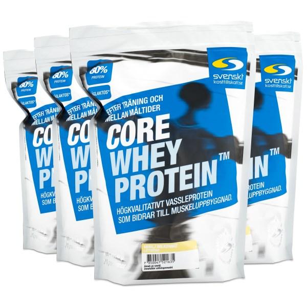 Core Whey Protein Vanilj Milkshake Lättsötad 4 kg