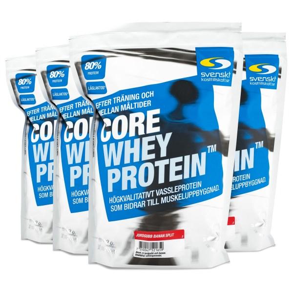 Core Whey Protein Jordgubb Banan Split 4 kg