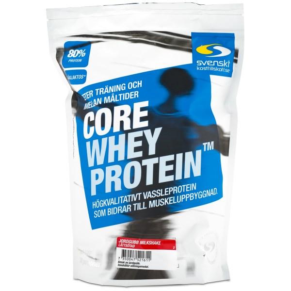 Core Whey Protein Jordgubb Milkshake Lättsötad 1 kg