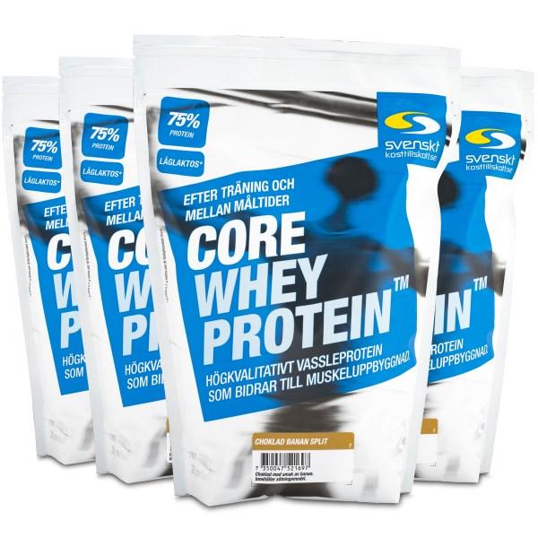 Core Whey Protein Choklad Banan Split 4 kg