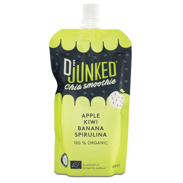 Dejunked ChiaGo Chiapudding Green Apple/Kiwi/Spirulina 120 g