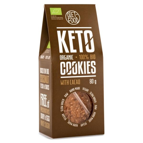Diet Food Keto Organic Crackers Cocoa 80 g