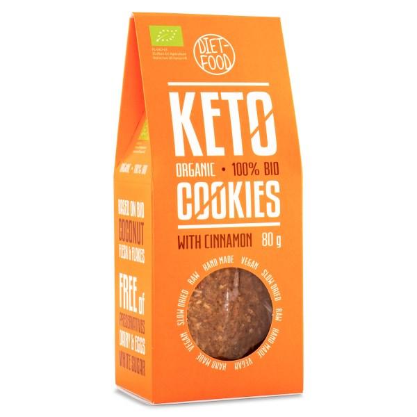 Diet Food Keto Organic Crackers Cinnamon 80 g