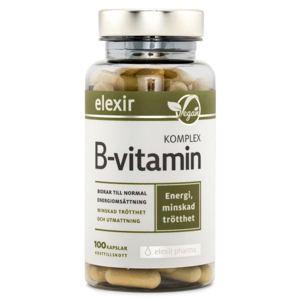 Elexir Pharma B-vitamin Komplex 100 kaps