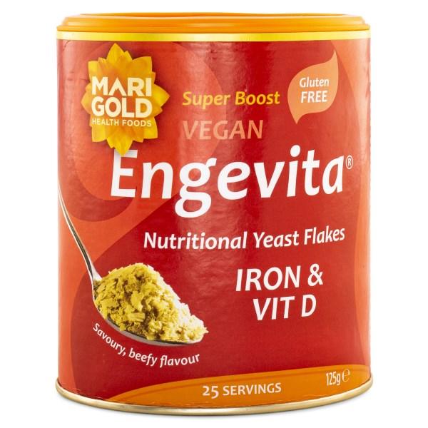Engevita Näringsjästflingor Järn & Vitamin D 125 g