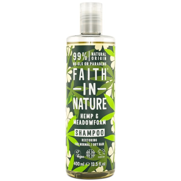 Faith in Nature Hemp & Meadowfoam Shampoo 400 ml