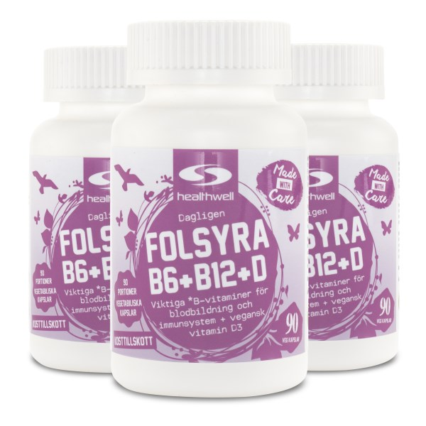 Folsyra+B6+B12 + D 270 kaps