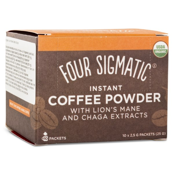 Four Sigmatic Kaffe Instant 10-pack Lions Mane & Chaga
