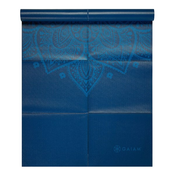 GAIAM Foldable Yoga Mat 1 st Blue Sundial