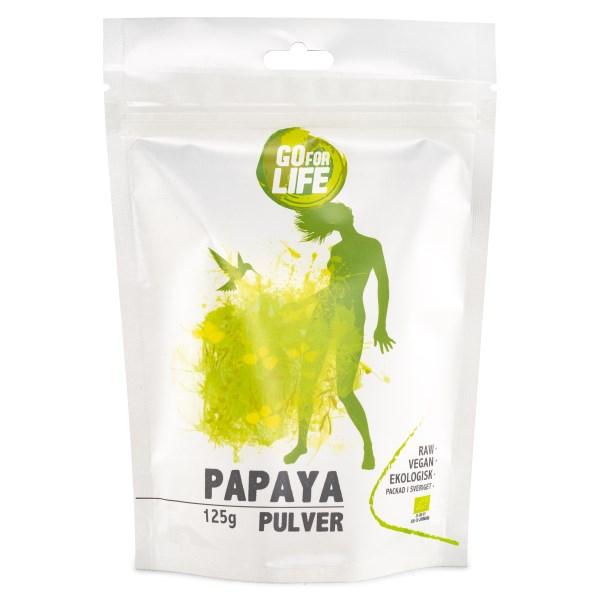 Go for Life Papayapulver EKO 125 g