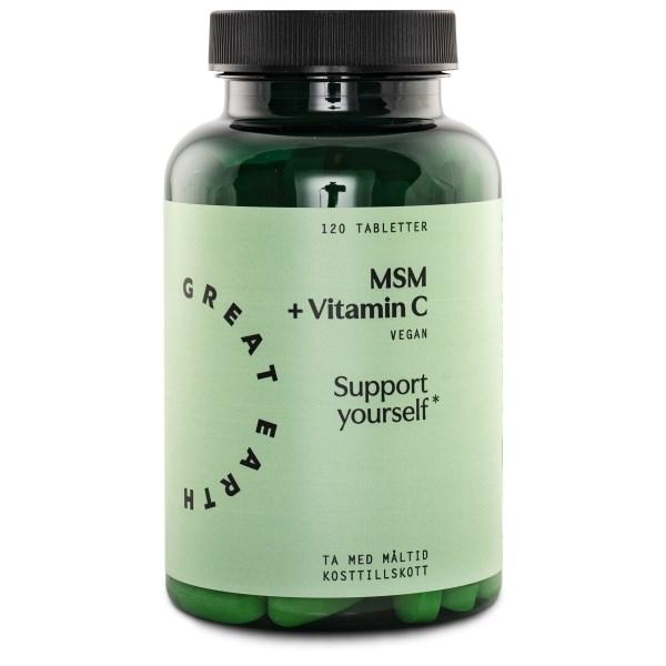 Great Earth MSM + Vitamin C 120 tabl